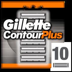 Lames pour rasoir masculin Contour Plus GILLETTE, x10