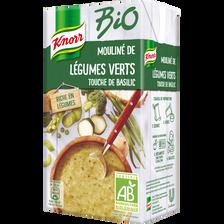 Soupe de légumes vert basilic bio KNORR, brique de 1 litre