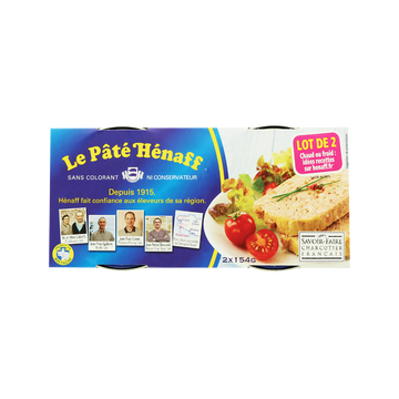 Mont Blanc Pâté Henaff, Lot De 2x154g