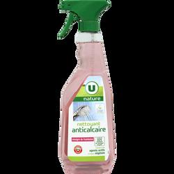 Nettoyant anti-calcaire U NATURE, spray de 750ml