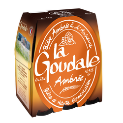 Bière ambrée LA GOUDALE, 7,2°, 6x25cl