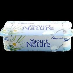 Yaourts nature, 8 pots, 125g