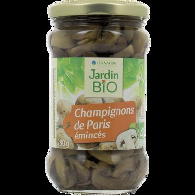 Champignons de Paris émincés bio JARDIN BIO 280g