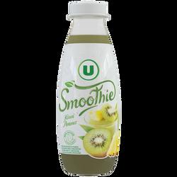 Smoothie kiwi ananas flash pasteurisé U bouteille 50cl