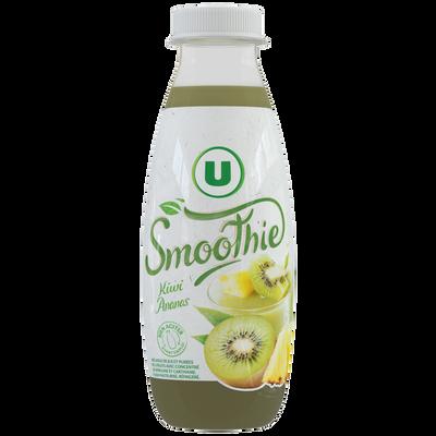 Smoothie kiwi ananas flash pasteurisé U, bouteille 50cl