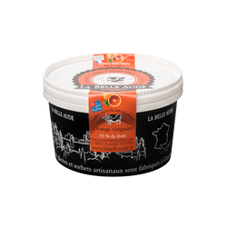 Sorbet orange sanguine LA BELLE AUDE, pot de 378g