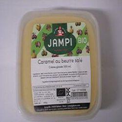 Crème glacée caramel au beurre salé bio JAMPI, bac de 550ml