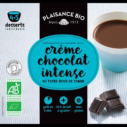 Préparation pour crèmes gourmande chocolat intense PLAISANCE BIO, 40g