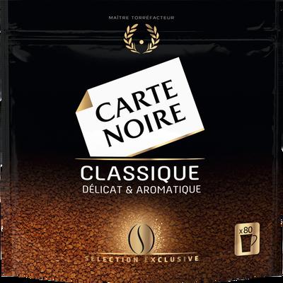 Café instantané classic refill CARTE NOIRE, paquet de 144g