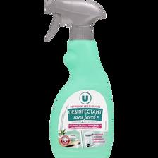 Nettoyant désinfectant sans javel multi usages U, spray de 500ml