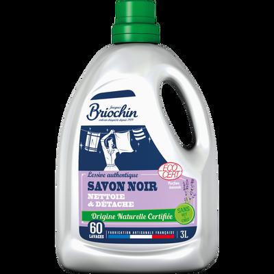 Lessive au savon noir écocert sans mit cmit BRIOCHIN, 3 litres
