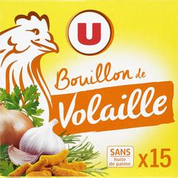 Bouillon de volaille U, 15 tablettes, 150g