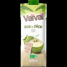 Eau de coco 100% naturelle BIO VAÏVAÏ, brique de 1l