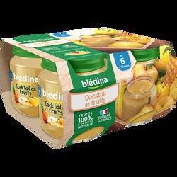 Petits pots pour bébé cocktail de fruits BLEDINA, dès 6 mois, 4x130g