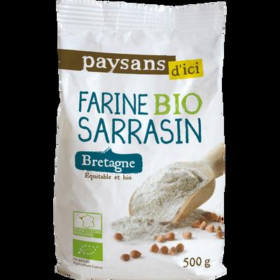 Farine de sarrasin bretagne bio ETHIQUABLE, 500g