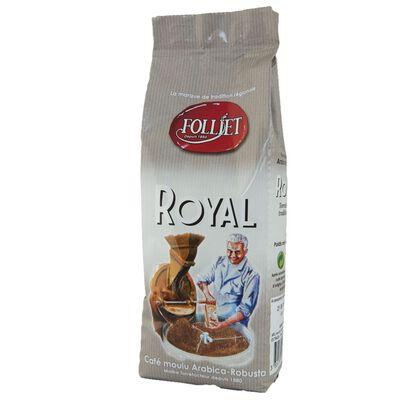 Café moulu royal arabica robusta FOLLIET, paquet 250g