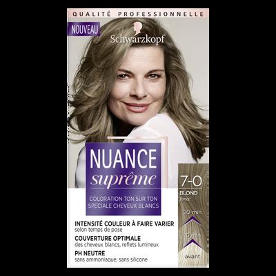 Coloration ton sur ton blond foncé NUANCE SUPREME, 7-0