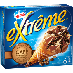 Cônes glacés café EXTRÊME, x6 soit 426g