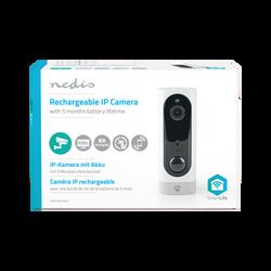 Caméra NEDIS IP rechargeable capteur de mouvement PIR micro sd 6000mah