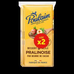 Chocolat 1848 pralinoise pour dessert POULAIN, 2x180g