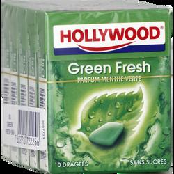 Hollywood Greenfresh, sans sucres pentapack 5x10 dragées 70g