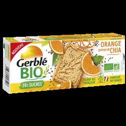 Sablé orange graines chia GERBLE bio, 132g