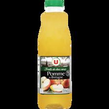 """Pur jus de pomme de Bretagne """"fruits de chez nous"""" U, bouteille de 1l"""