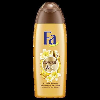Gel douche sensual and oil à l'huile d'argan et fleur de vanille FA, flacon de 250ml
