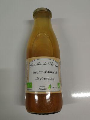 Nectar d'abricots de provence bio Le mas de Vinobre 75cl