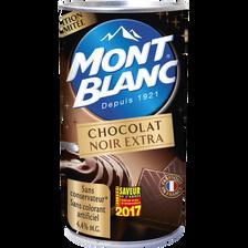 Crème dessert chocolat noir, 70%, cacao, MONT BLANC, boîte de 500g