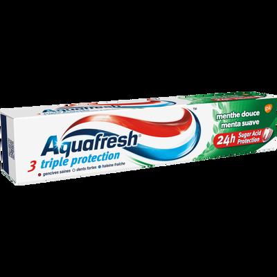 Dentifrice triple protection menthe douce AQUAFRESH, tube de 75ml