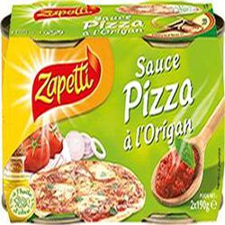 Sauce Pizza à l'origan ZAPETTI, 2x190g