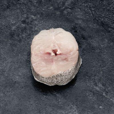 Merlu en tranche, Merluccius merluccius, pêché en Atlantique Nord Est