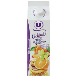 Pur jus cocktail multifruits U, brique de 1l