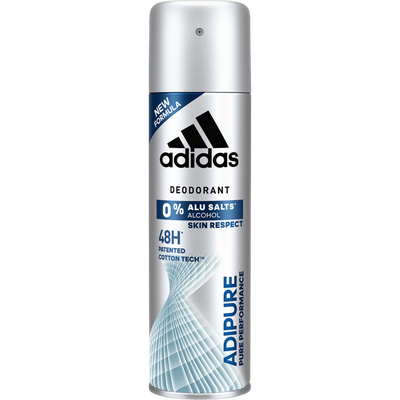 Déodorant anti-transpirant 0% alcool adipure xl ADIDAS, atomiseur de 200ml