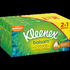 Kleenex Mouchoirs Balsam , 2 Boîtes De 72 + 1 Offerte