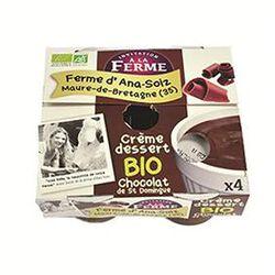 Crème dessert chocolat st domingue FERME D'ANA-SOIZ 4x100g