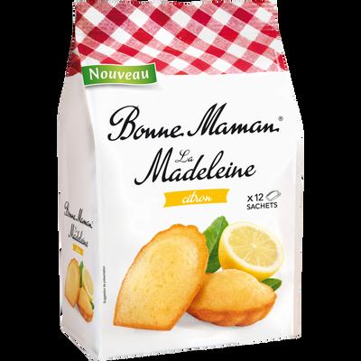 Madeleine tradition citron BONNE MAMAN, paquet de 300g