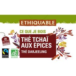 THE NOIR TCHAI AUX EPICES BIO ETHIQUABLE