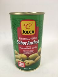 Jolca - Olives Vertes Entières saveur Anchois - 350G