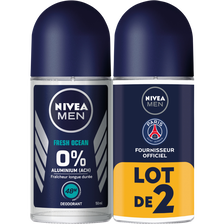 Nivea Déodorant Fresh Ocean 0%  Men, 2 Billes De 50ml