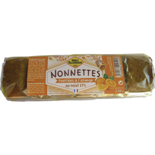 Nonnettes miel 21% de fourrées orange,MIELS VILLENEUVE x6 150