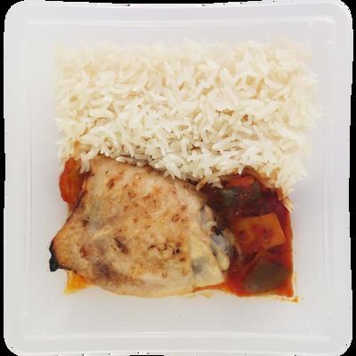 Poulet basquaise au piment d'espelette et riz, 350g