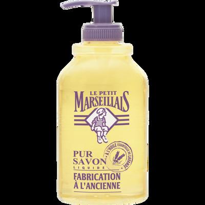Savon liquide à l'ancienne à l'huile essentielle de lavande LE PETIT MARSEILLAIS, 300ml