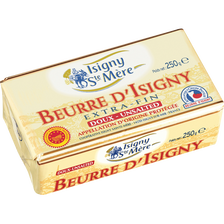 Beurre doux 82%mg, AOP ISIGNY STE MERE plaquette 250g