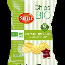 Chips bio ondulées allégées en sel SIBELL, 130g