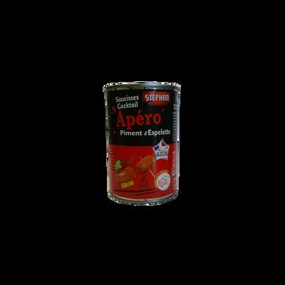 Saucisses cocktail au piment d'Espelette STEPHAN, boîte de 200g