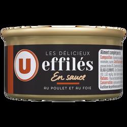 Les délicieux effilés sauce poulet et au foie U, boîte 85g