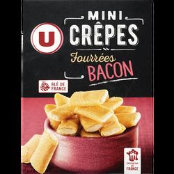 Mini crêpes fourrées goût bacon U, paquet de 65g