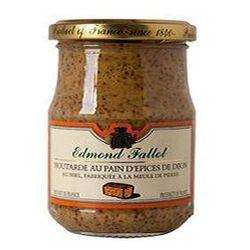 Moutarde au pain d'épices de Dijon et au miel FALLOT, 205g